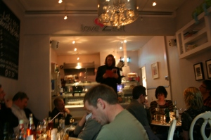 Mike Garry performing at Love2Eat Deli, West Didsbury