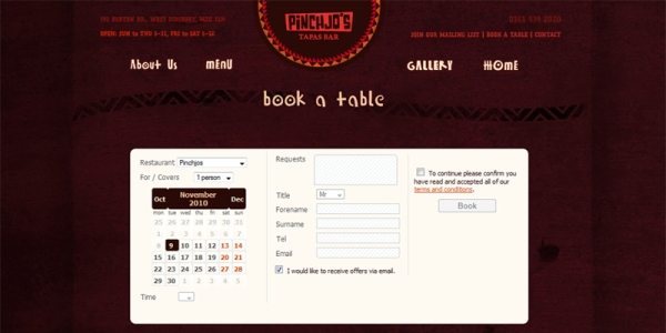 Book Online with Pinchjo's, West Didsbury