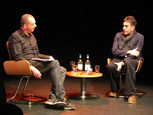 Terry Hall in conversation with Dave Haslam - with thanks to Jason Brogan for photography