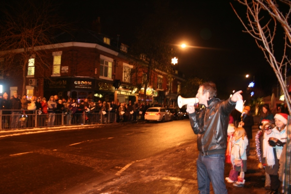 Clint Boon with the WDRA megaphone
