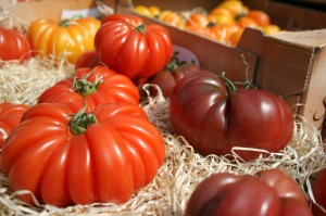 Juicy tomatoes at West Didsbury Market