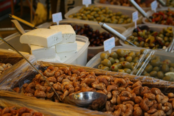 Olives, Nuts & Feta at West Didsbury Market