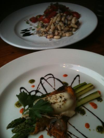 Asparagus & Goats Cheese and Mixed Bruschetta Starters