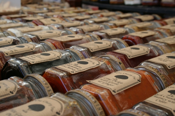 Chutneys, jams & preserves galore...