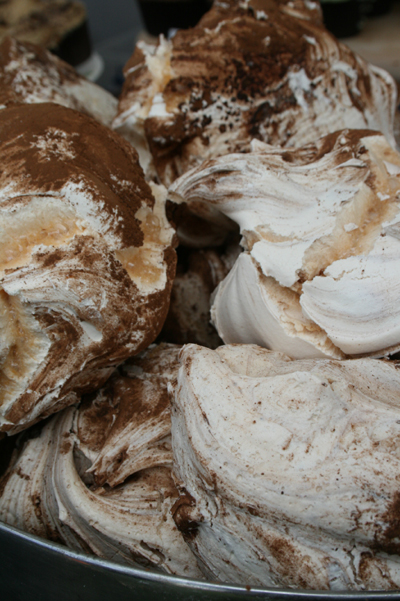 The most enormous chocolate meringues we've ever seen...