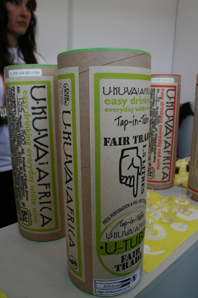 We *loved* the Fairtrade wine in a tube...