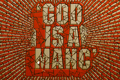 """God Is A Manc"" by Amanda McCrann"