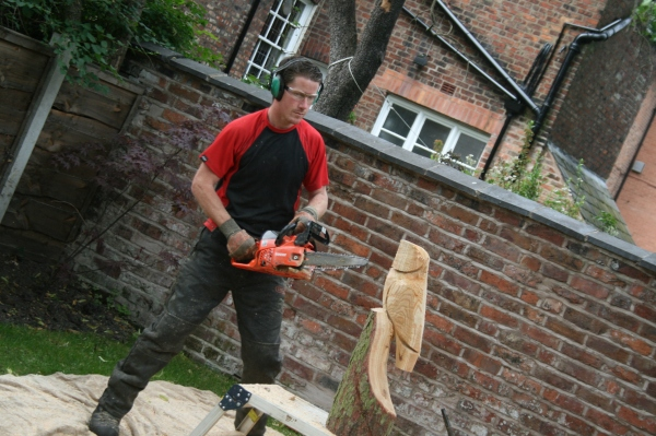 Andy Burgess, West Didsbury Wood Carver