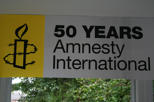 Ghislaine Howard supports Amnesty International