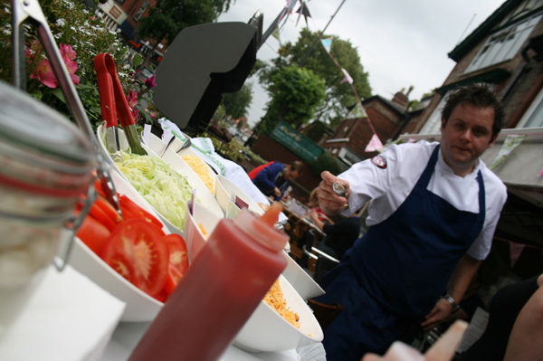 TThe award nominated Bryn Evans, cooking up a BBQ storm at Rhubarb Restaurant...