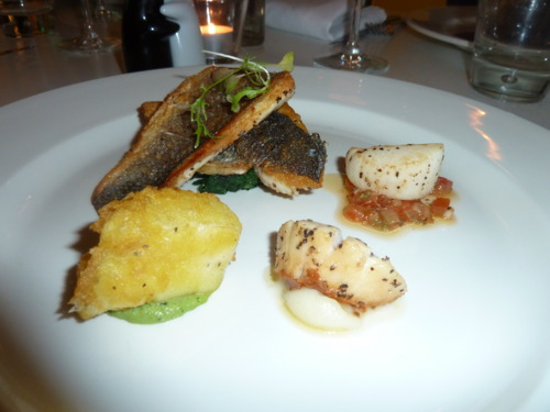 Sea Bass with Trio of Scallops - image courtesy of Deanna Thomas