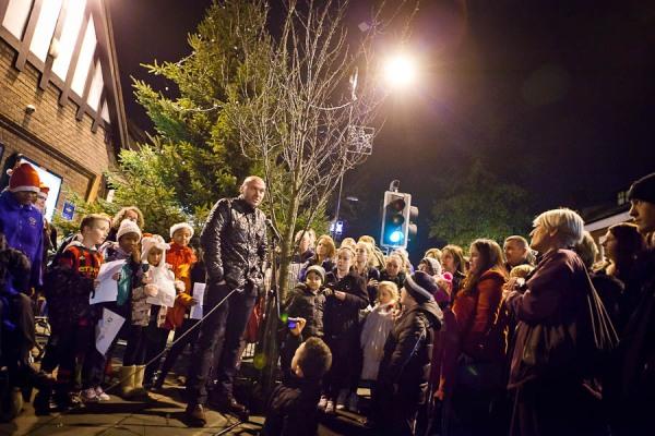 Simon Rimmer - LightsFest - West Didsbury Dec 2011 - Jonny Draper Photography