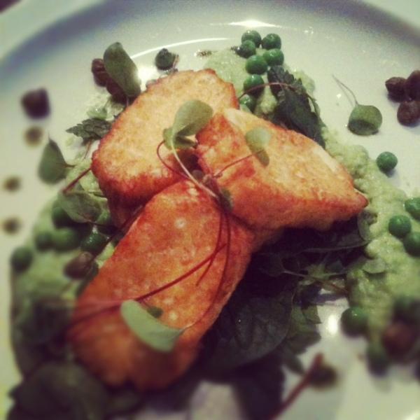 Halloumi starter, Greens Restaurant, West Didsbury