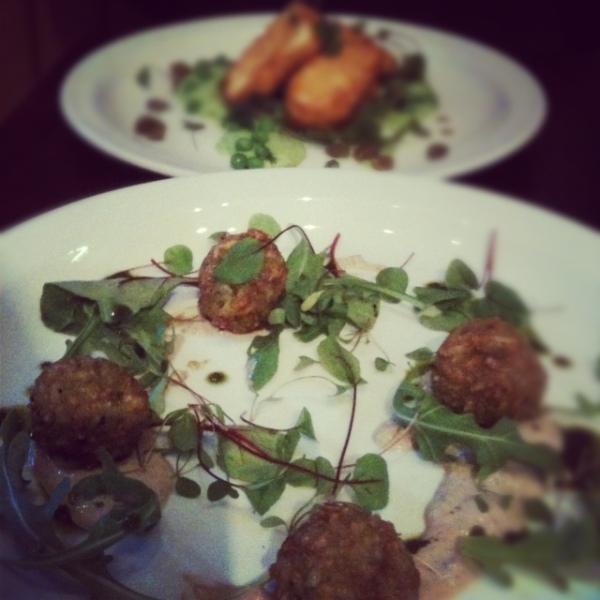 Arancini starter, Greens Restaurant, West Didsbury