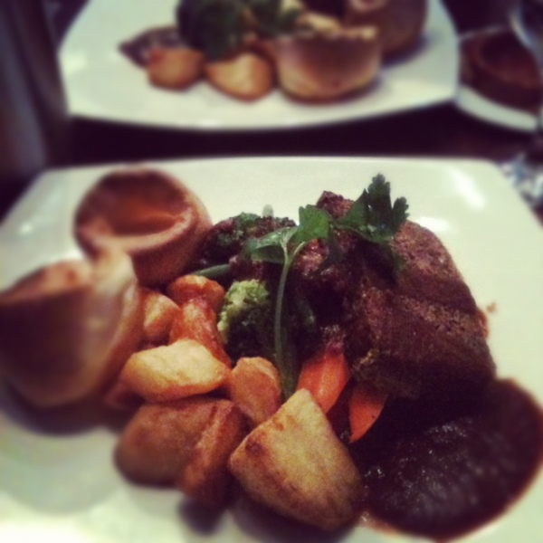 Sunday Roast - veggie, of course, at Greens Restaurant, West Didsbury