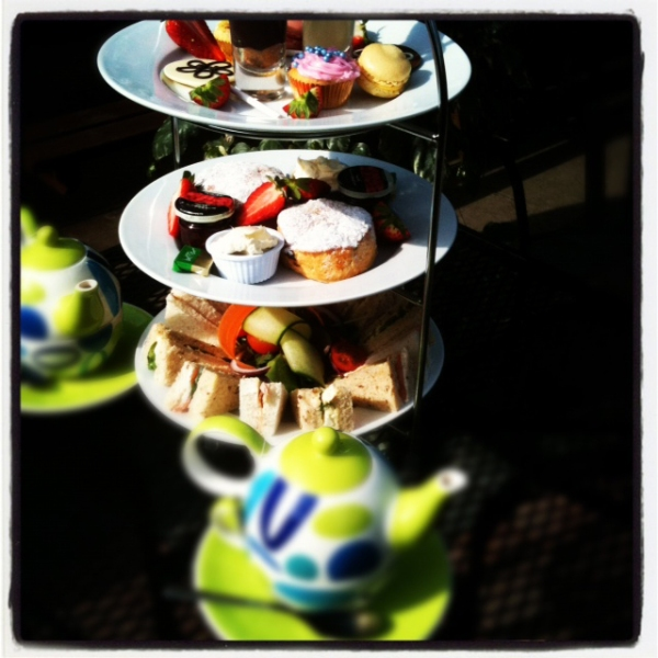 Afternoon tea at Thyme Out Delicatessen, West Didsbury